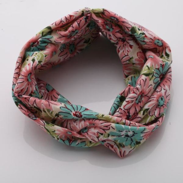 Twisted Knotted Floral Headband - Color 5