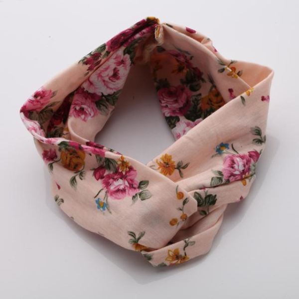 Twisted Knotted Floral Headband - Color 8