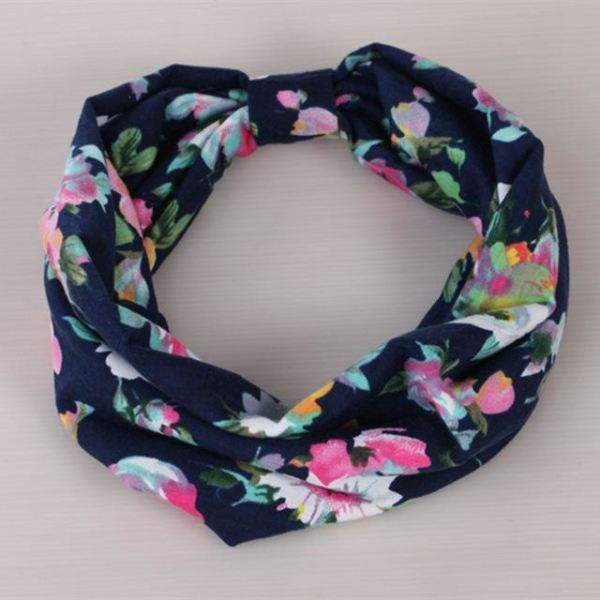 Twisted Knotted Floral Headband - D