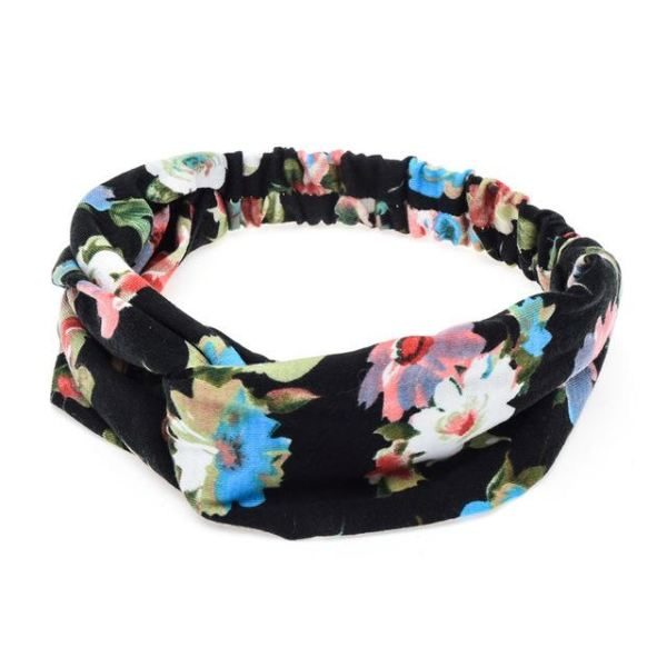 Twisted Knotted Floral Headband - H