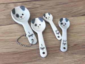 MEASURING SPOONS - SPOTTY DOG