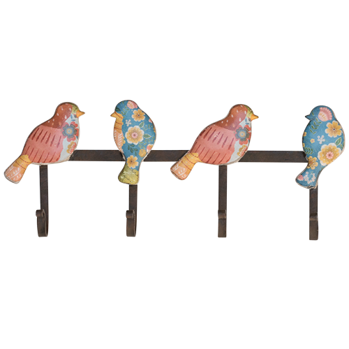 BLOOM BIRD WALL HOOKS (4 HOOKS)
