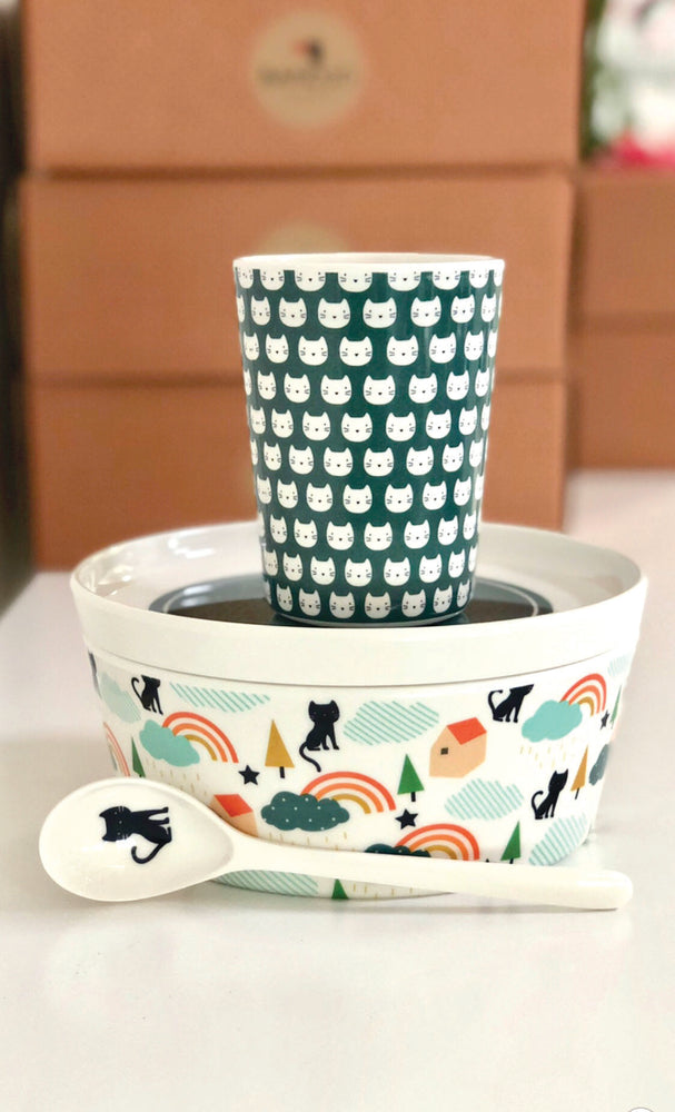 BANDJO MELAMINE SET CAT (SET OF 4)