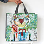 SHOPPER BAG - CAT/BIRD