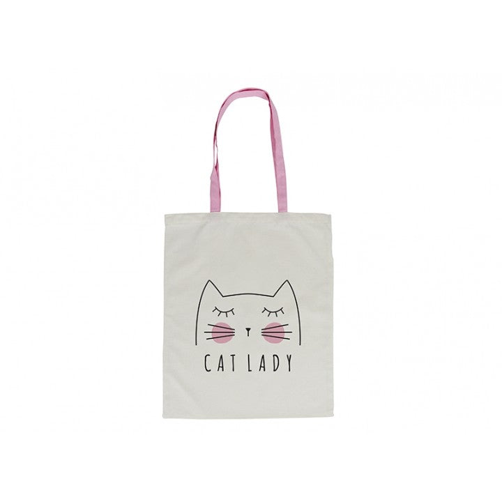 CAT LADY CANVAS TOTE BAG