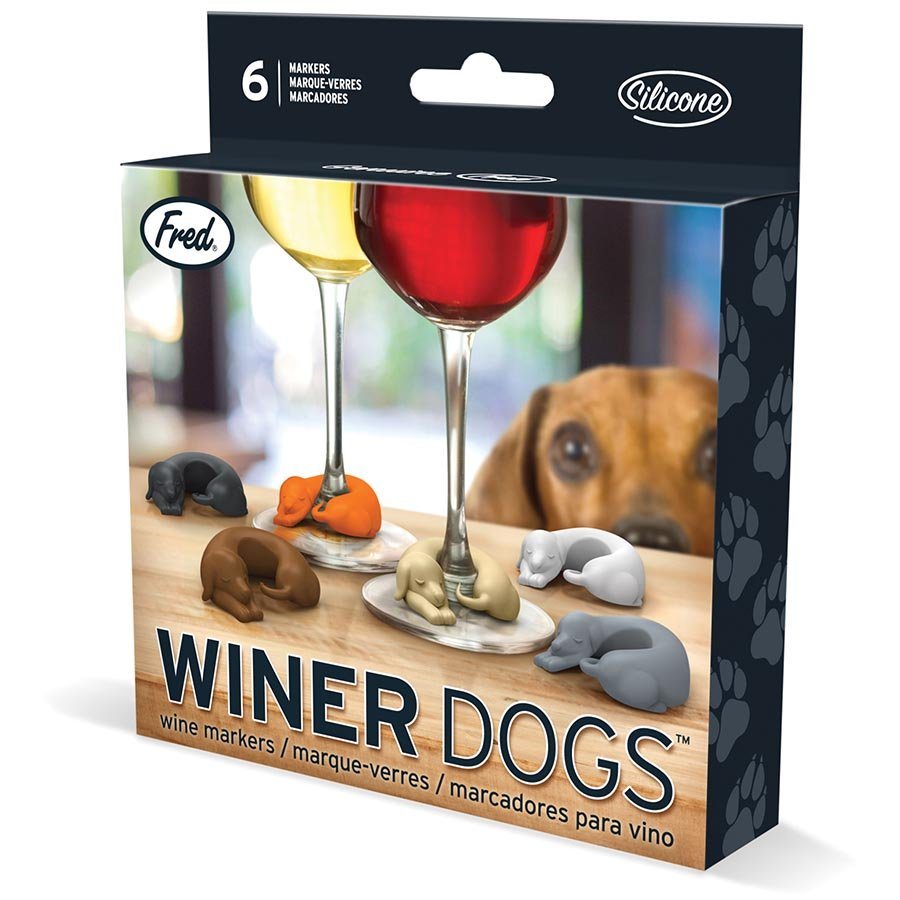 WINER DOG WINE MARKERS (Set of 6)
