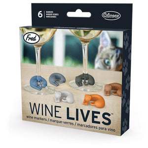 WINE LIVES KITTY WINE MARKERS (Set of 6)