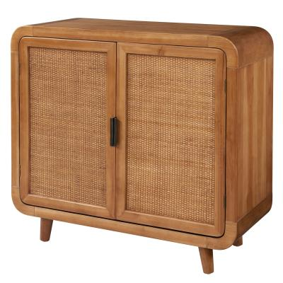 Caned Front Cabinet