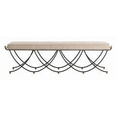 Black Iron Bench