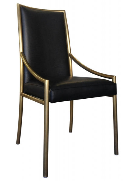 Empiric Antiqued Brass Dining Chair