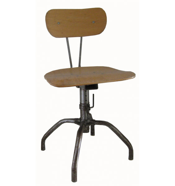Vintage Adjustable Lab Chair/Stool