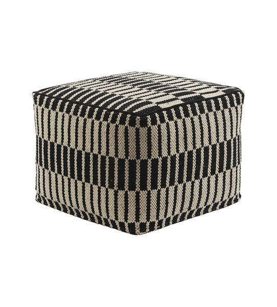 Cotton Patterened Pouf Ottoman