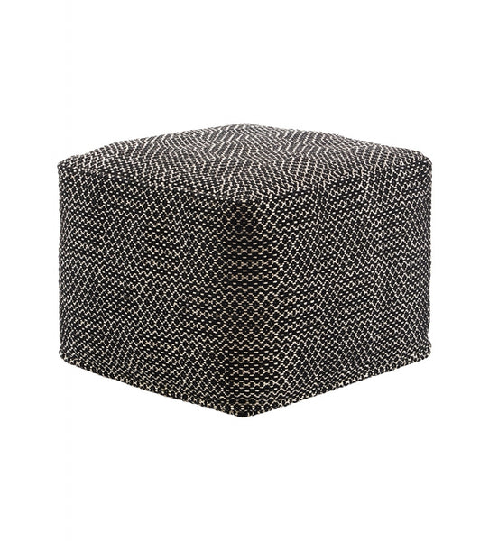 Cotton Speckled Pouf Ottoman