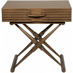 Campaign Side Table, Saddle Brown