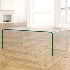 Glass Waterfall Coffee Table