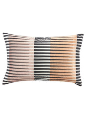 Striped Lumbar Pillow in Toasted Marshmallow