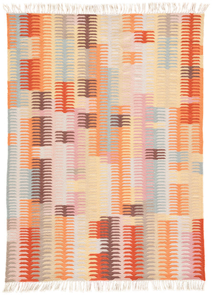 Carver Rug in Coral/Burnt Ochre