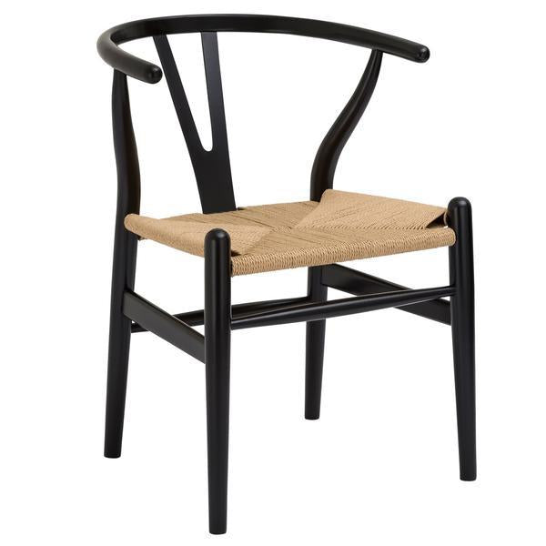 Weave Dining Chair in Black
