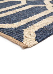 Luxor Flat Weave in Night Shadow Blue/Pebble