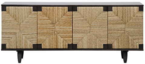 Seagrass Front Sideboard, Mahogany