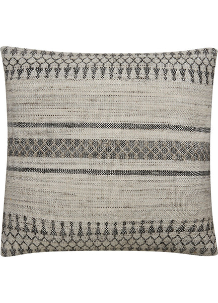 Bamboo and Wool Patterned Pillow in Birch