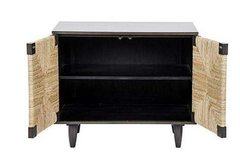 Seagrass Front Side Cabinet, Mahogany