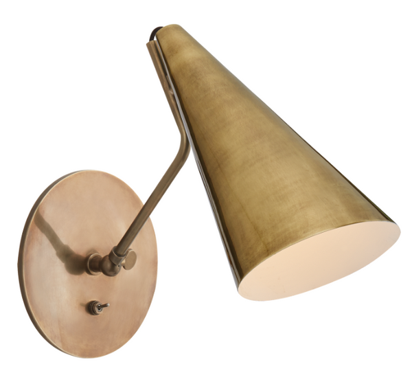 Clemente Wall Lamp, Brass