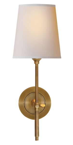 Bryant Sconce, Hand Rubbed Brass