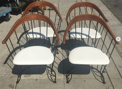 Set of 4, 1960's Barrel Back Chairs