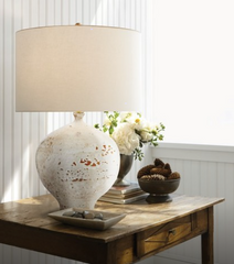 Pharaoh White Table Lamp