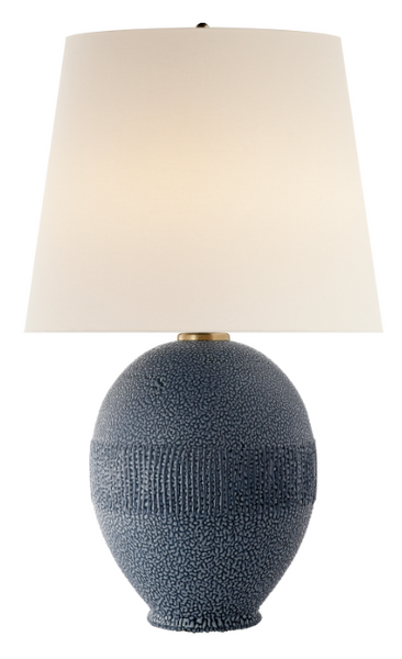 Toulon Table Lamp in Beaded Blue