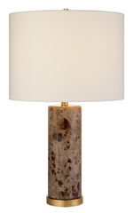 Brown Marble Table Lamp