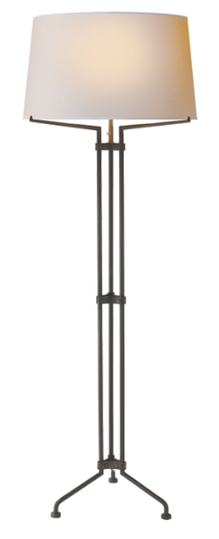 Tri-Leg Floor Lamp in Aged Iron