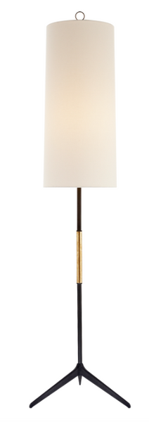 Frankfort Floor Lamp in Aged Iron