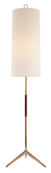 Frankfort Floor Lamp in Antiqued Brass