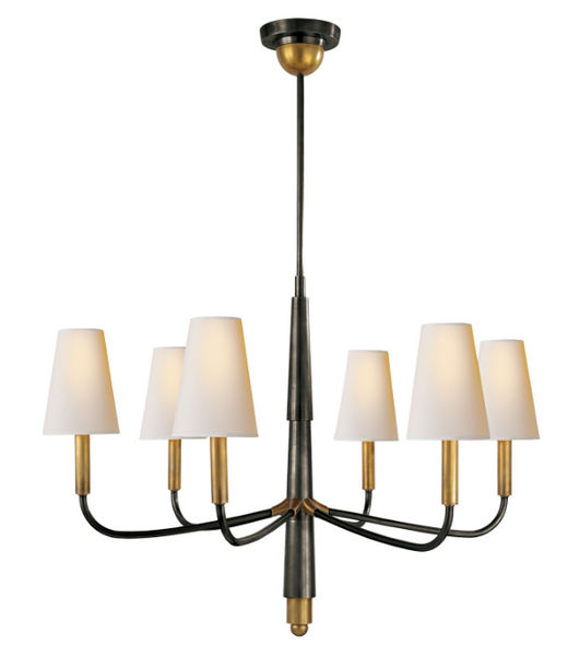 Farlane Small Chandelier in Bronze and Brass