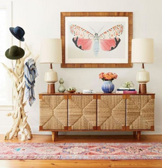 Seagrass Front Sideboard, Teak