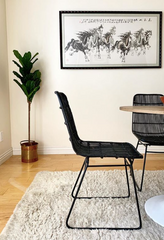 Set of 4, Black Wicker Dining Chairs