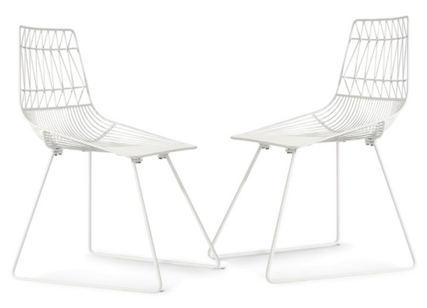 Pairs, Aspen Metal Dining Chairs