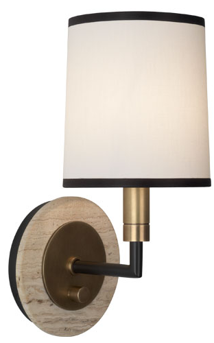 Travertine Plate Sconce