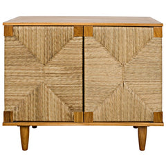 Seagrass Front Side Cabinet, Teak
