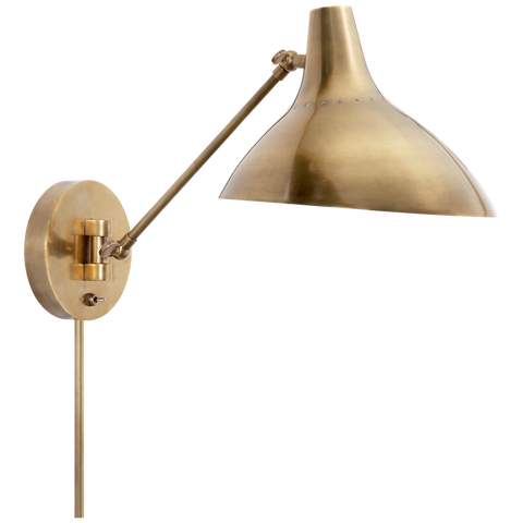 Charlton Wall Light in Hand-Rubbed Antique Brass