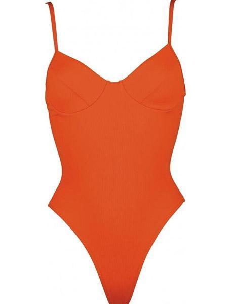 Pure Color One Piece Swimsuits