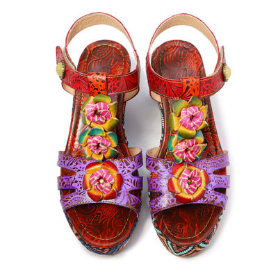 New Fashion Flower Rose Open-toed Sandals