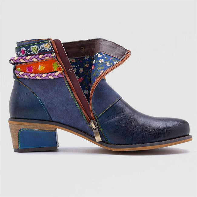 Fashion Handmade Vintage Style Leather Women's Boots