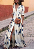Bohemian Printed Slim Dress