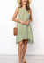 Round Neck Sleeveless Polka Dot Loose Dress