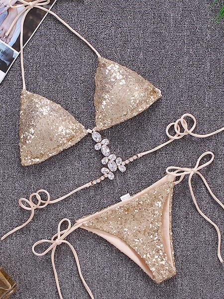 Sexy Sequins Bikini Drill Swimsuit