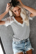 Imagine Me Without You Lace Shoulder Tee - 5