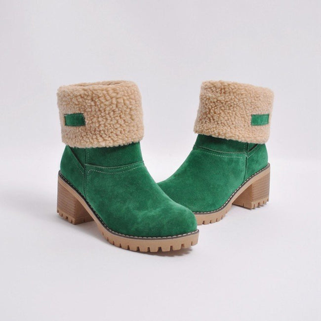 Fashion Plain Floss Winter Snow Boots